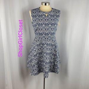 💥Just In💥HZ BOYI Blue/White Dress